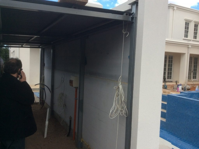 The pool pum room was added behind and the SIP panels ensured a strong fixing surface
