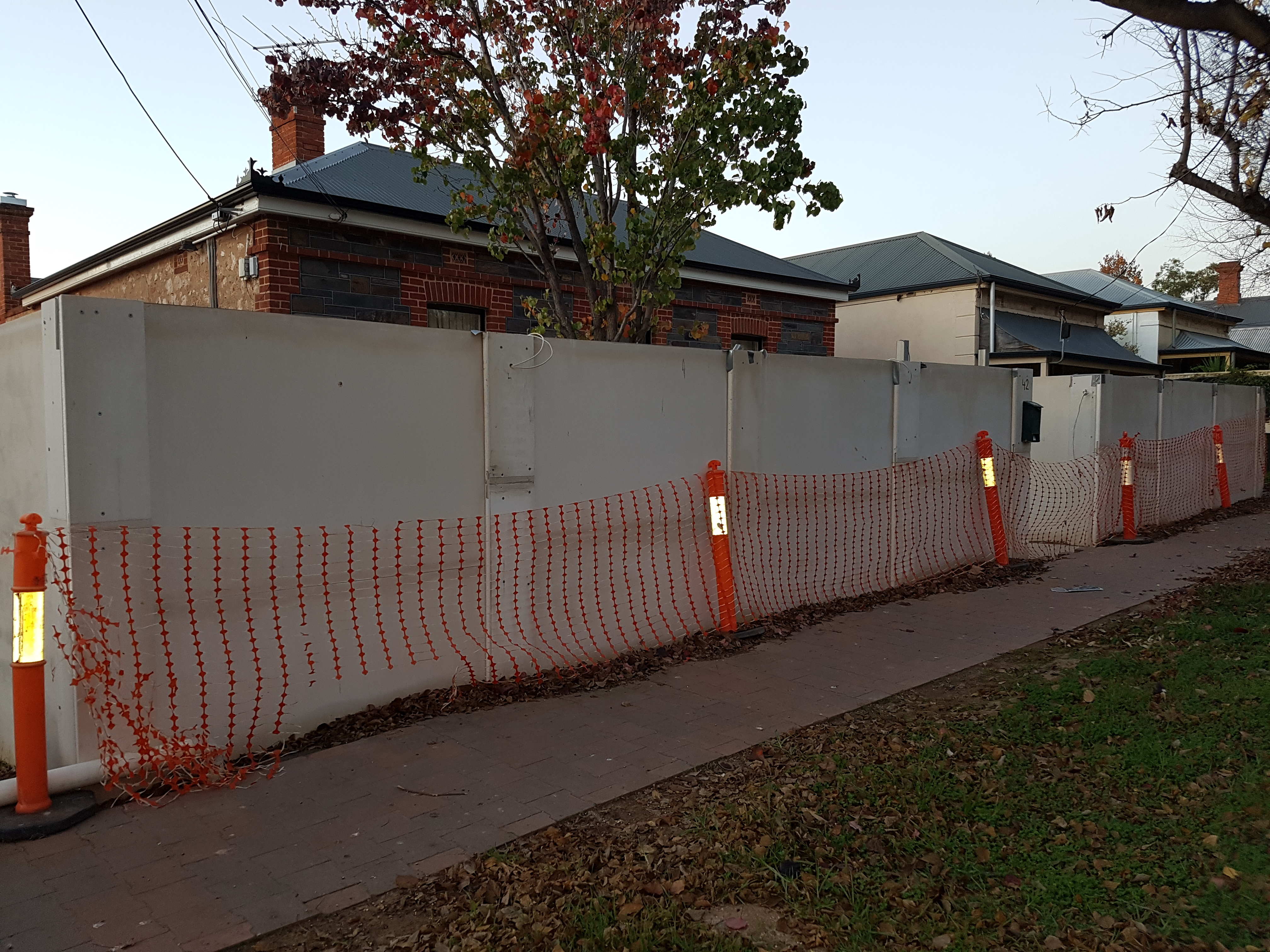 Columns can be added to provide depth to the fence.