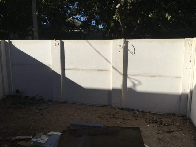 SIP Panel fencing makes it very easy to add power and electrics for lighting