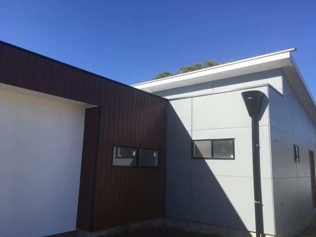 MEGABOARD fibre cement sheeting using sorrel cement ensured the boards were lighter and easier to work on site