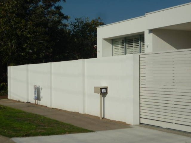 the price of this fence came in approximately 40% cheaper than a masonry fence