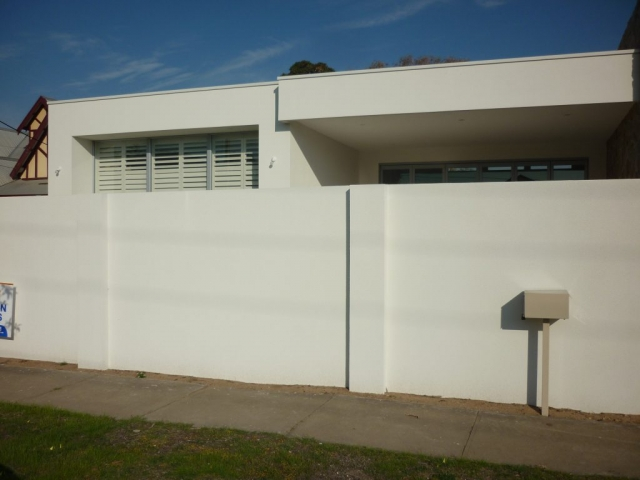 Whilst te existing letter box was used for this house, it is easy to install a letter box into a SIP wall