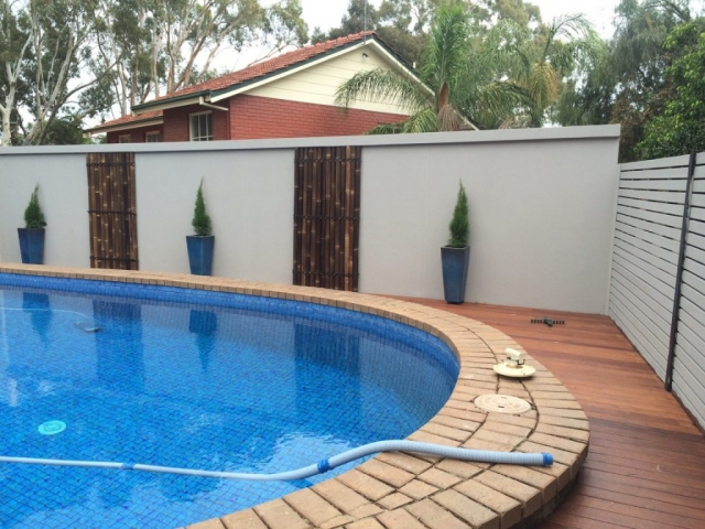 The SIP fence provided a great privacy option for this pool